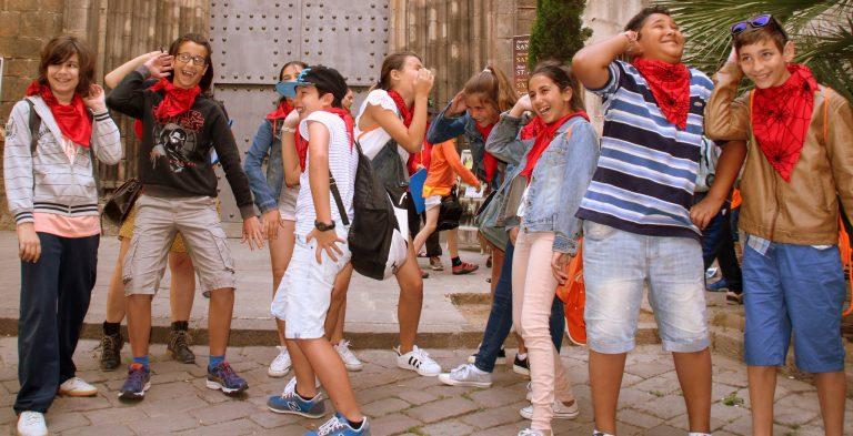 (Colegios outdoor) Gincana Barcelona - Colegio El Faro - Misión Barcino - may´16