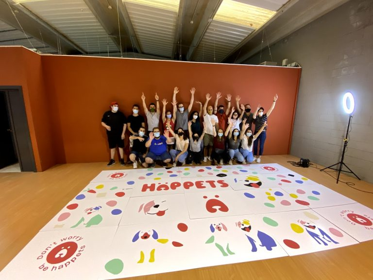 Mural Team Building para Happets - junio '21
